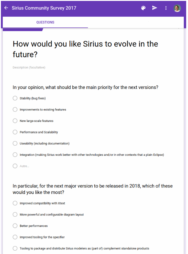 Sirius Community Survey