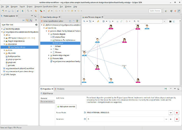 Integration with ELK for improved diagram layouts